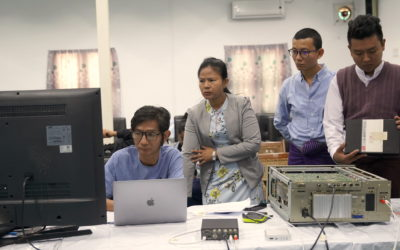 Save Myanmar Film conducted two-day Magnetic Tapes Digitization Workshop at IPRD funded by MOWCAP ACC small grants