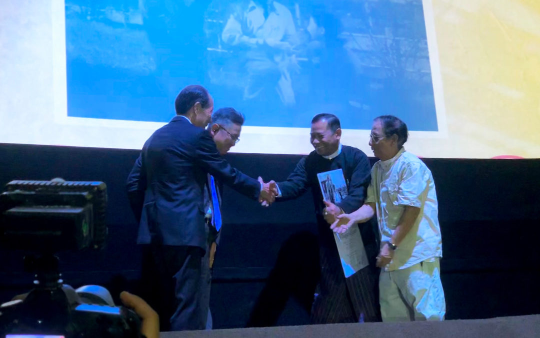 """The Daughter of Japan"" is handed over to Myanmar and digital restored version is screened in Yangon for the first time."