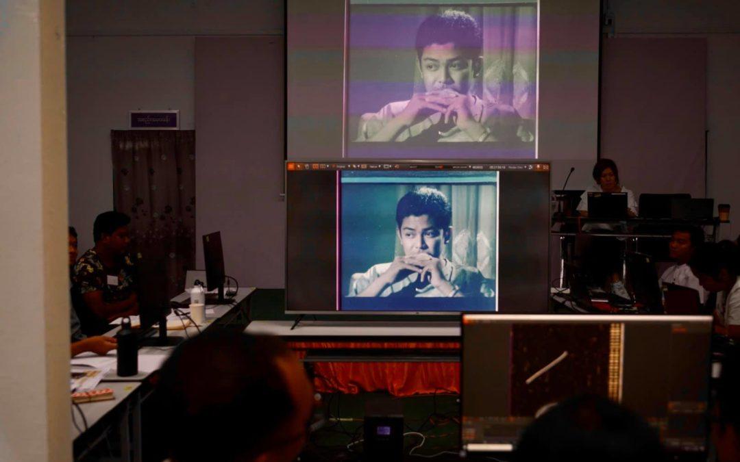 "Save Myanmar Film organized a ""Film Digital Restoration Workshop"" conducted by Imagica Lab (Japan)"